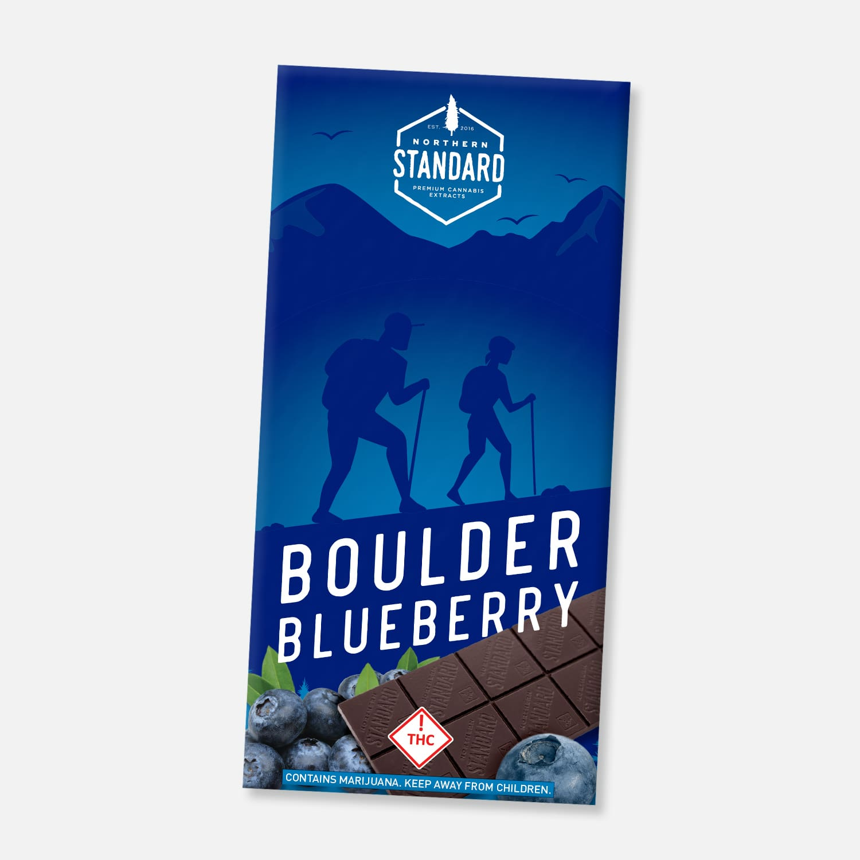 Boulder Blueberry: Gluten-Free THC Chocolate Bar