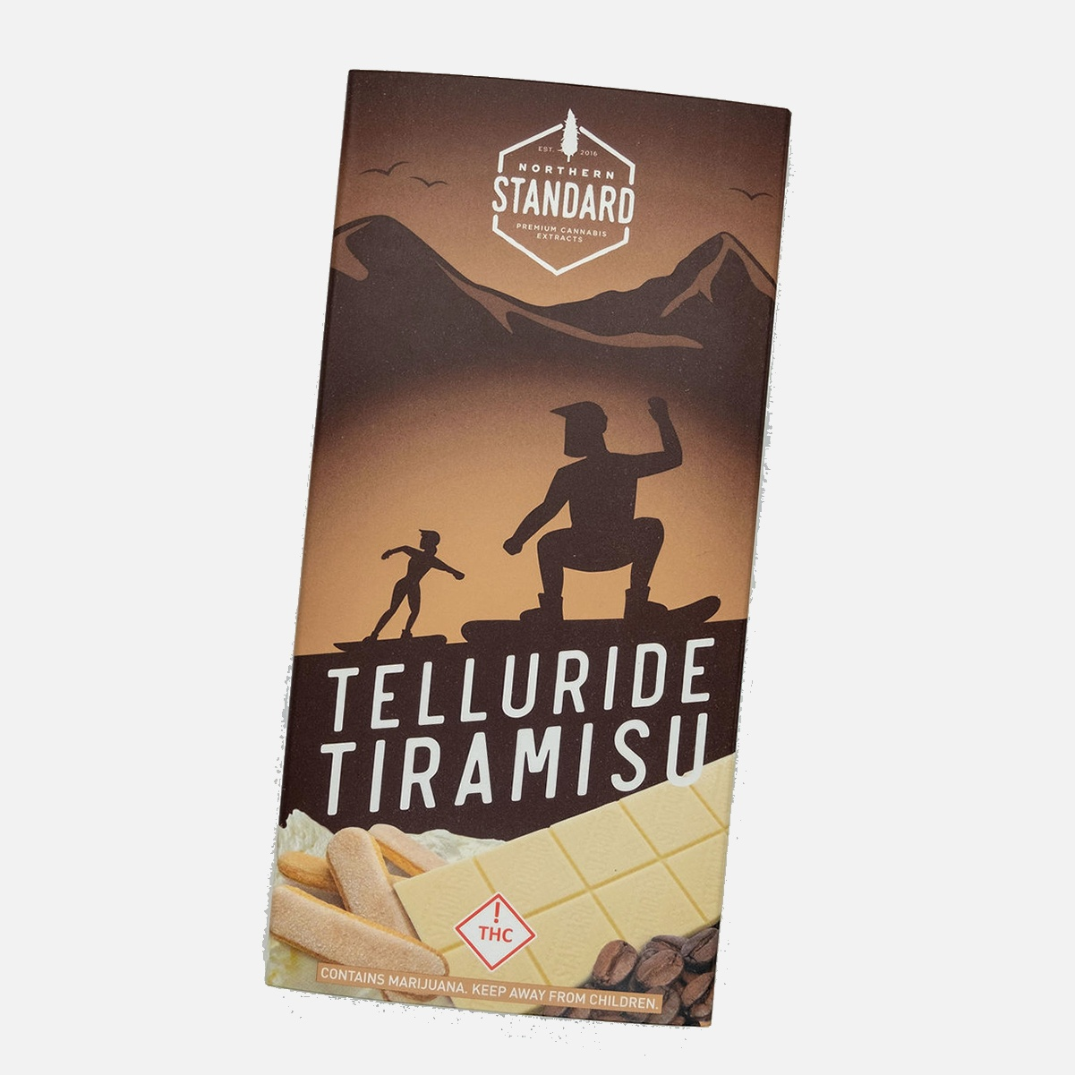 Telluride Tiramisu: THC Edible Chocolate Bar