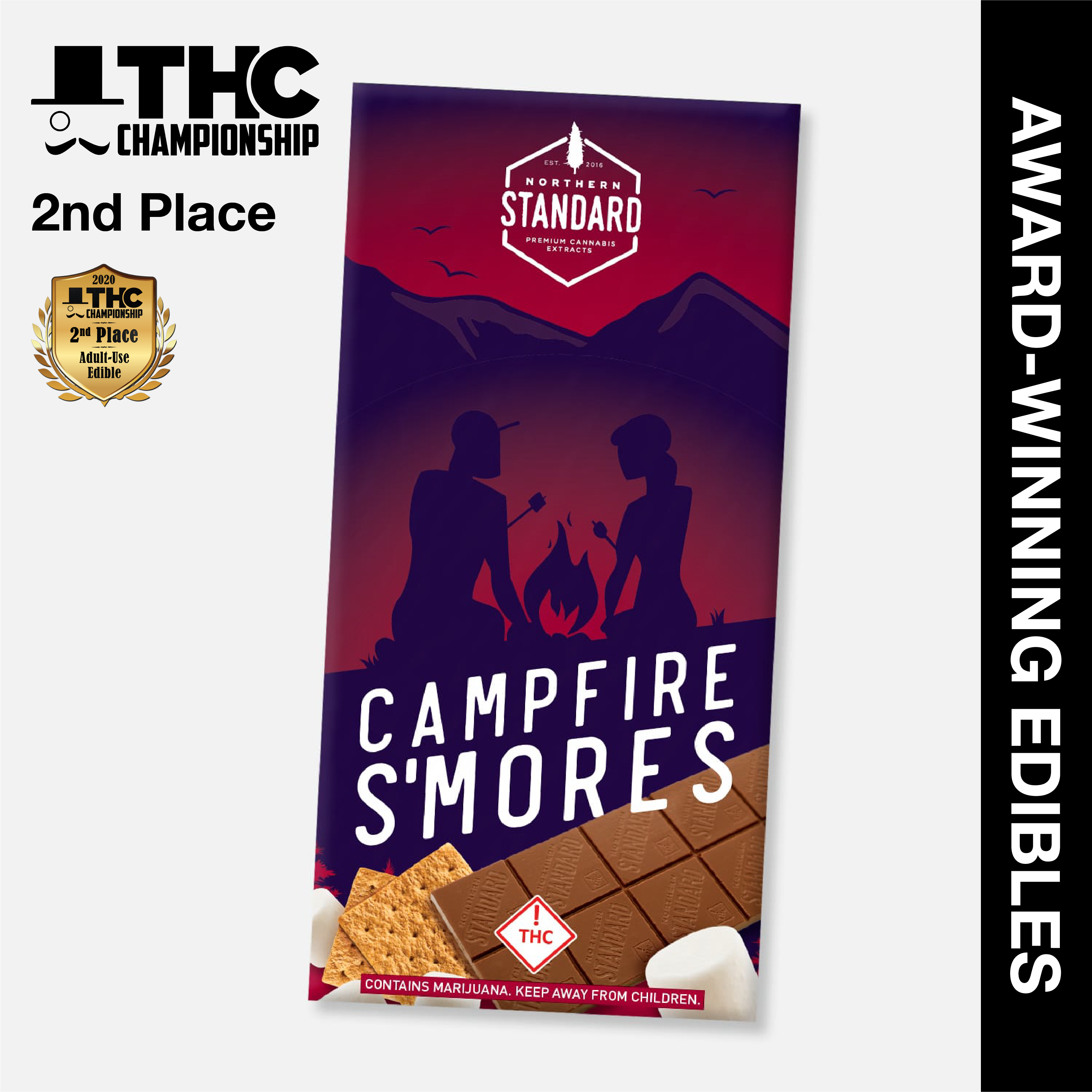 Campfire S'mores - THC Chocolate